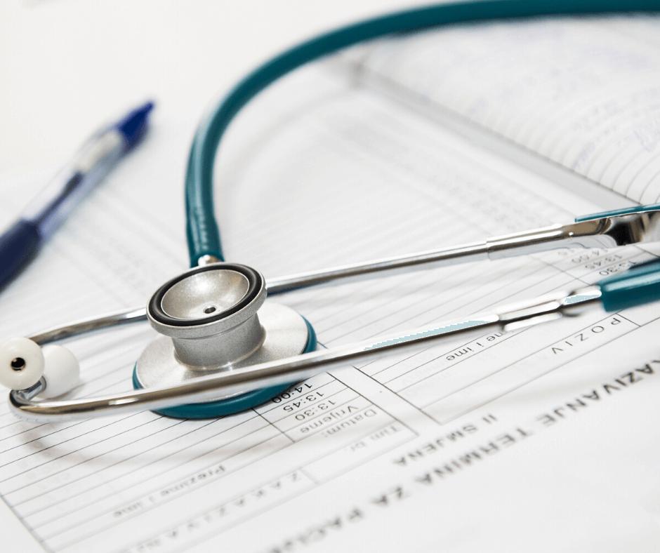 medical tools on paperwork